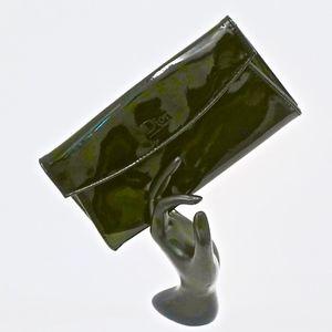 DIOR~BLACK PATENT LEATHER~Cosmetic Case/Clutch
